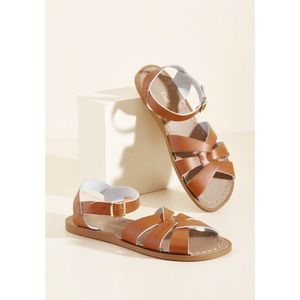 ModCloth Classic Tan Leather Saltwater Sandals